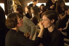 The amazing Coco Rocha getting ready for the Gyunel AW14 LFW #Backstage