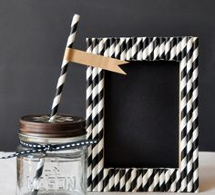 DIY: decoración de un marco con pajitas, ¡facilísimo!