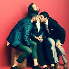 Somehow never saw this one. A goofy moment during that broody photo shoot. :)