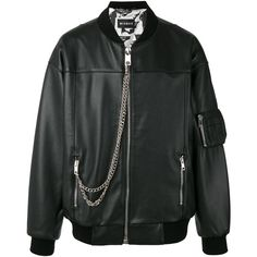 Misbhv Desire bomber jacket ($722) ❤ liked on Polyvore featuring men's fashion, men's clothing, men's outerwear, men's jackets, black, mens real leather jackets, mens leather jackets, mens leather flight jacket and mens leather bomber jacket