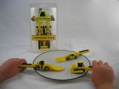 'Constructive Eating' Kit Includes Bulldozer, Forklift and Front Loader trendhunter.com