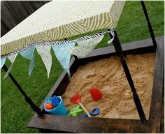 When I was younger my sandbox was a green turtle. This one would be way cuter for my little one.