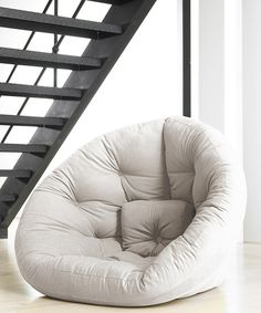 round futon- I would use a few of these in my family room!