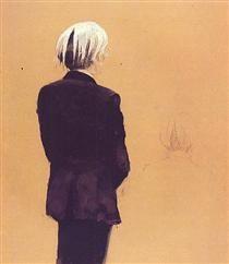 Andy Warhol - Back View, Standing - Jamie Wyeth