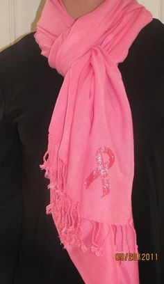 Pink ribbon scarves shawls wraps hand crafted unique gifts to give hope and courage to survivors and breast cancer patients and family members. Part of proceeds donated to cancer research.