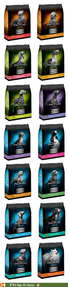 Purina ProPlan's newly redesigned dried dog food packaging is a huge improvement.