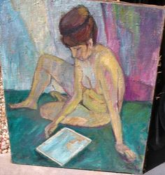 BIG Rediscovered Of Mid Century Modernist Paintings NUDE WOMEN Phila.Artist #Impressionism