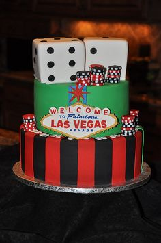 Las Vegas Themed Party Cake