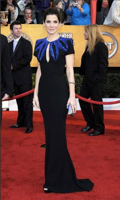 2010 SAG Awards - Outstanding Performance by a Female Actor in a Leading Role Winner Sandra Bullock in Alexander McQueen