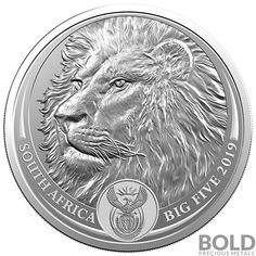 Lowest Prices Great Service on 2019 1 oz Silver South Africa Big Five Lion BU. Buy Coins, Coins For Sale, Silver Eagle Coins, Silver Eagles, Coin Dealers, Coin Design, Dangerous Animals, South African Artists, Commemorative Coins