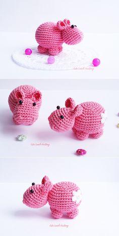 Crochet pattern, crochet Hippo, amigurumi pattern, crochet toy pattern, crochet plush toy stuffed animal, crochet animals crochet tutorial