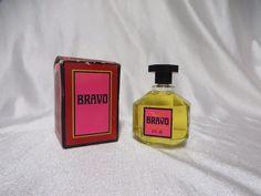 Vintage 70s Avon Bravo Glass Bottle w Box Gift 4 oz Retro After Shave Mens MOD #Avon #Vintage