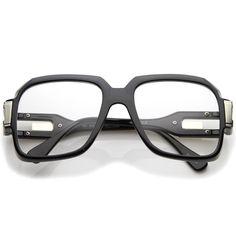 Large Retro Hip Hop Style Clear Lens Square Eyeglasses 54mm