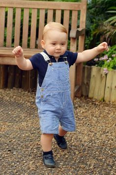 July 20 2014 A new portrait - showing the Prince in Petit Bateau dungarees - was released to celebrate his birthday on July 22