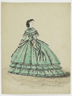 Fashion plate, bet. 1855-65 | In the Swan's Shadow