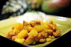 Kuchnia Letycji : Kurczak curry z ananasem Pork, Ethnic Recipes, Sweet, Pineapple, Pork Roulade, Pigs, Pork Chops