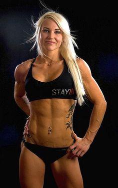 Finnish female bodybuilder and fitness model Heidi Vuorela #fitness