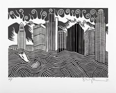 """""""Citybank escapee"""" for Radiohead by Stanley Donwood"""