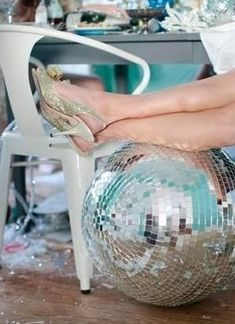 OMG!  I want a Disco Ball and a party next New Year's Eve! @Teresa Hammonds @Kristi Chambers