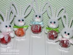 I  just bought a bunch of these. Will be making them as place cards for Easter. Using a card between the stick and ears.