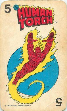 Marvel Comics Superheroes Card  Human Torch