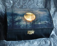 Tarot Box Altar box  Moon box Treasure Chest by moondreamin, £25.00 / just lovely guys :)