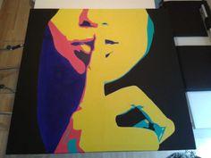 """""""sssht"""", 100cmx100cm Acryl on Canvas"""