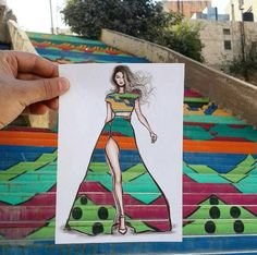 Using paper cut-outs, artist Shamekh Al-Bluwi creates clever clothing designs. Each fashion illustration shows Al-Bluwi's surroundings in a new way. Fashion Illustration Sketches, Illustration Mode, Fashion Sketches, Cut Out Art, Photo Sketch, Illusion Art, Mode Inspiration, Paper Cutting, Creative Art