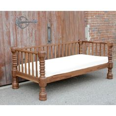 Abstract British Colonial Golden Teak Daybed For Sale - Image 3 of 7 Furniture Styles, Home Decor Furniture, Sofa Furniture, Furniture Design, Wooden Sofa Designs, Wooden Sofa Set, Indian Home Interior, Indian Home Decor, Living Room Sofa