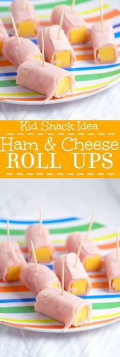 Ham and Cheese Roll Ups are an easy and healthy snack for kids and toddlers. Lots of protein! Just add fruits and veggies on the side!