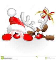 Christmas Santa And Reindeer Fun Cartoon - Download From Over 70 Million High Quality Stock Photos, Images, Vectors. Sign up for FREE today. Image: 61846178