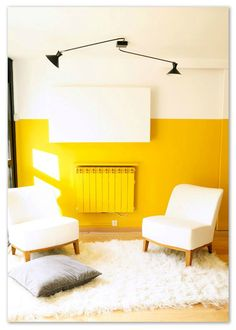 This is similar to the nursery color. could do some color blocking with a wall treatment and add lots of white and neutrals. I see walnut or natural wood in there too. Aesthetic Colors, Yellow Walls, Wall Treatments, Home Staging, Decoration, House Colors, Natural Wood, Color Blocking, Paint Colors