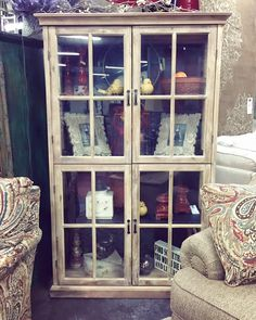 Looking for a great accent piece for your home? This cabinet is not only beautiful, but very functional as well. Great way to store your favorite accessories and dishes! #shoplocalclinton