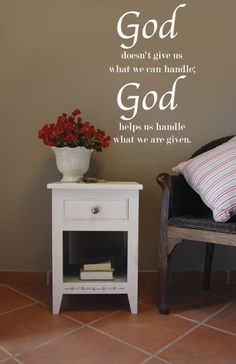 God Helps Us Vinyl Wall Decal by route3studios on Etsy