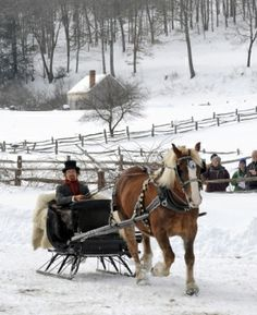 After a two week long delay due to lack of snow, Old Sturbridge Village will finally be holding its annual Antique Sleigh Rally this Saturday, February Winter Magic, Winter Snow, Winter Time, Sturbridge Village, Kitsch, Dashing Through The Snow, Winter Scenery, Winter Pictures, Farm Pictures