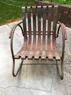 Mid Century Lloyd Vintage Metal Lawn Chair. See History At  Www.midcenturymetalchairs.