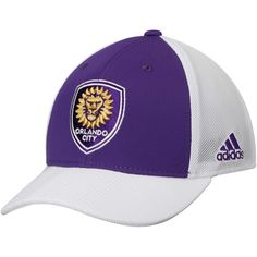 19faf926c1d Youth Orlando City SC adidas Purple Authentic Structured Snapback  Adjustable Hat