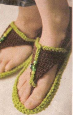 örgü sandalet örneği
