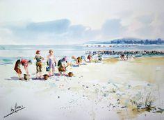Marisqueiras en la Ribera - Galicia - Luis Romero (b. Vigo - Galicia, Spain, 1959)