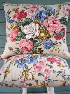 Vintage linen cushions