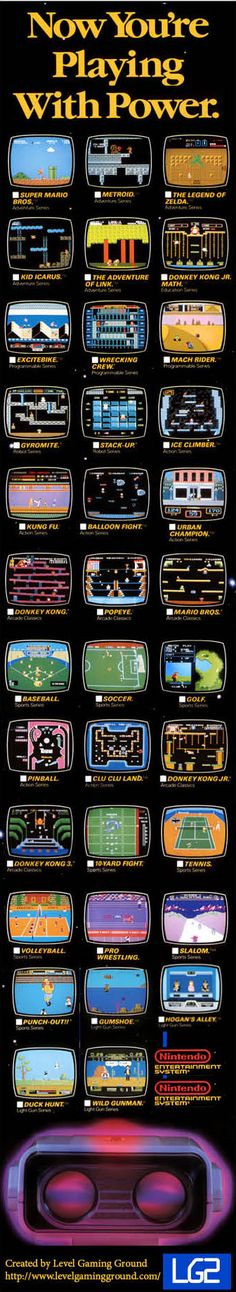 #Gamer #Inforgraphic Now You're Play With Power the original #RetroGamer NES version! http://www.levelgamingground.com/now-youre-playing-with-power-retro-infographic.html