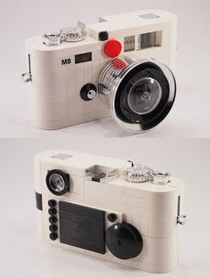 Special white edition of the Leica M8 rangefinder using LEGO pieces.