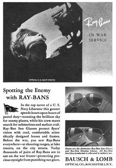 e64ddee555 Spotting the enemy with Ray Bans