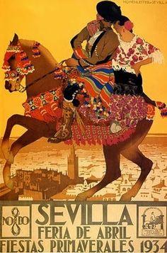 Esta semana es la Feria de Abril en Sevilla. Una manera de hacer un repaso a su historia es a través de estos carteles:                     ...