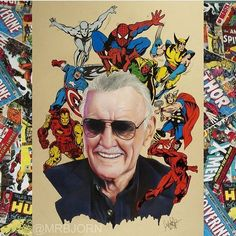 Rest in Peace, Stan Lee You will forever be alive in our hearts. Stan Lee, Jack Kirby, Marvel Comics, Marvel Avengers, Bruce Timm, Frank Miller, Thundercats, Comic Books Art, Comic Art