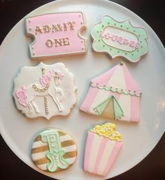 Carousel Carnival Cookies / One Dozen by ShopCookieCouture on Etsy