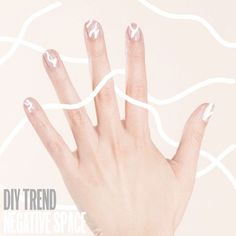 It͛s simple to create this spring nail-art look at home. Step 1: Using a bobby pin, apply the ͚Negative Space͛ design to clean nails with Miracle Gel in Creme de la Creme. Step 2: Apply a coat of Miracle Gel Top Coat to seal your mani. It͛s that easy!