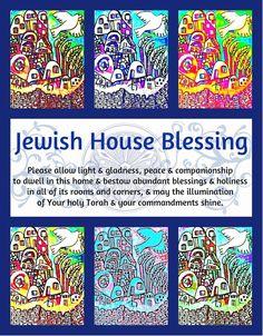 Jewish House Blessing SILBERZWEIG ORIGINAL by SandraSilberzweigArt, $16.00