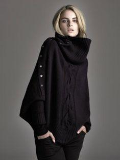 black oversized jumper