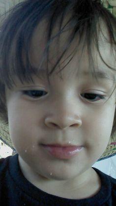 My  beautiful grandson.